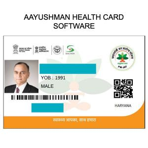 Ayushman Health PVC Card Printing Software
